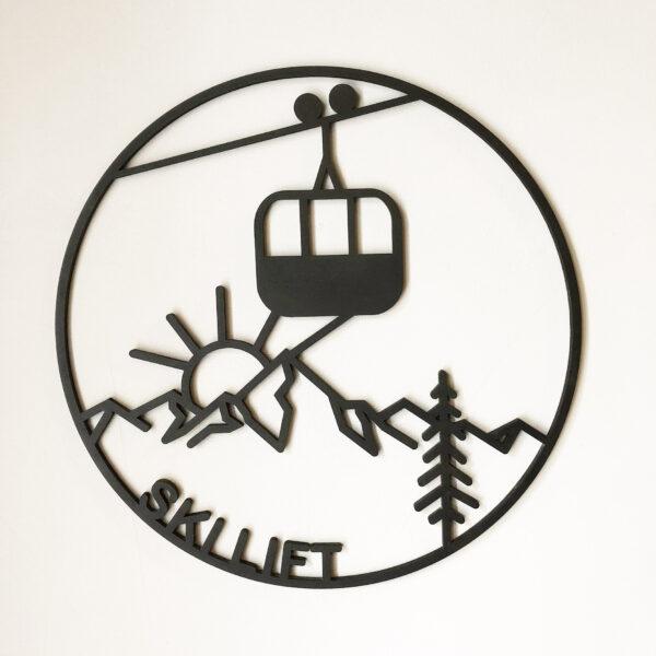 Tableau Skilift | Sapin Noir