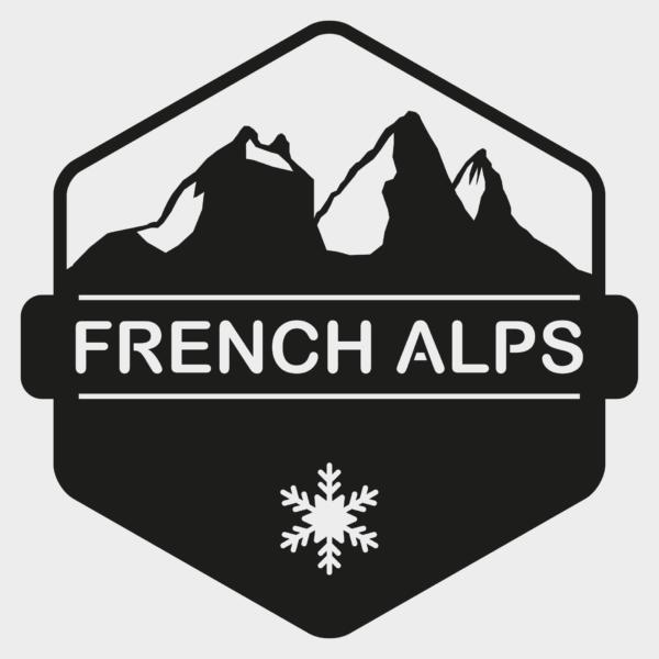Tableau french alps | Sapin noir décoration murale noir