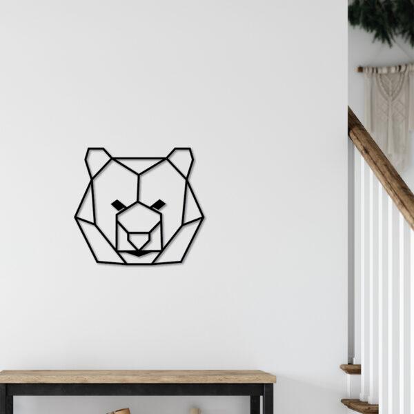 Tableau tête d'ours | Sapin Noir