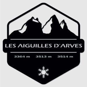 Tableau Aiguilles d'Arves Savoie décoration murale Sapin Noir